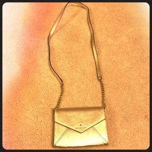 Metallic Gold Kate Spade mini bag